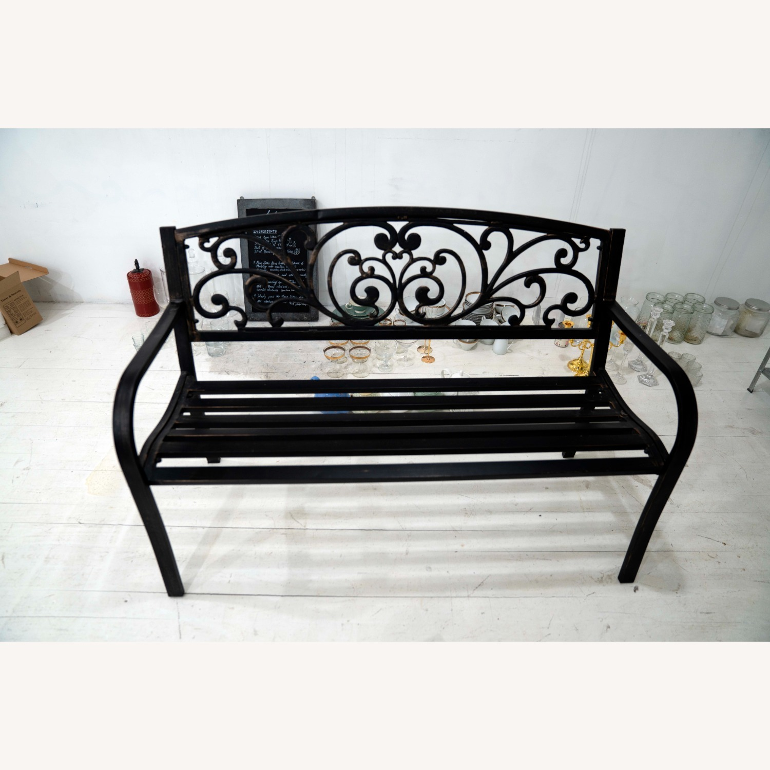 Cast Iron Outdoor Bench - image-2