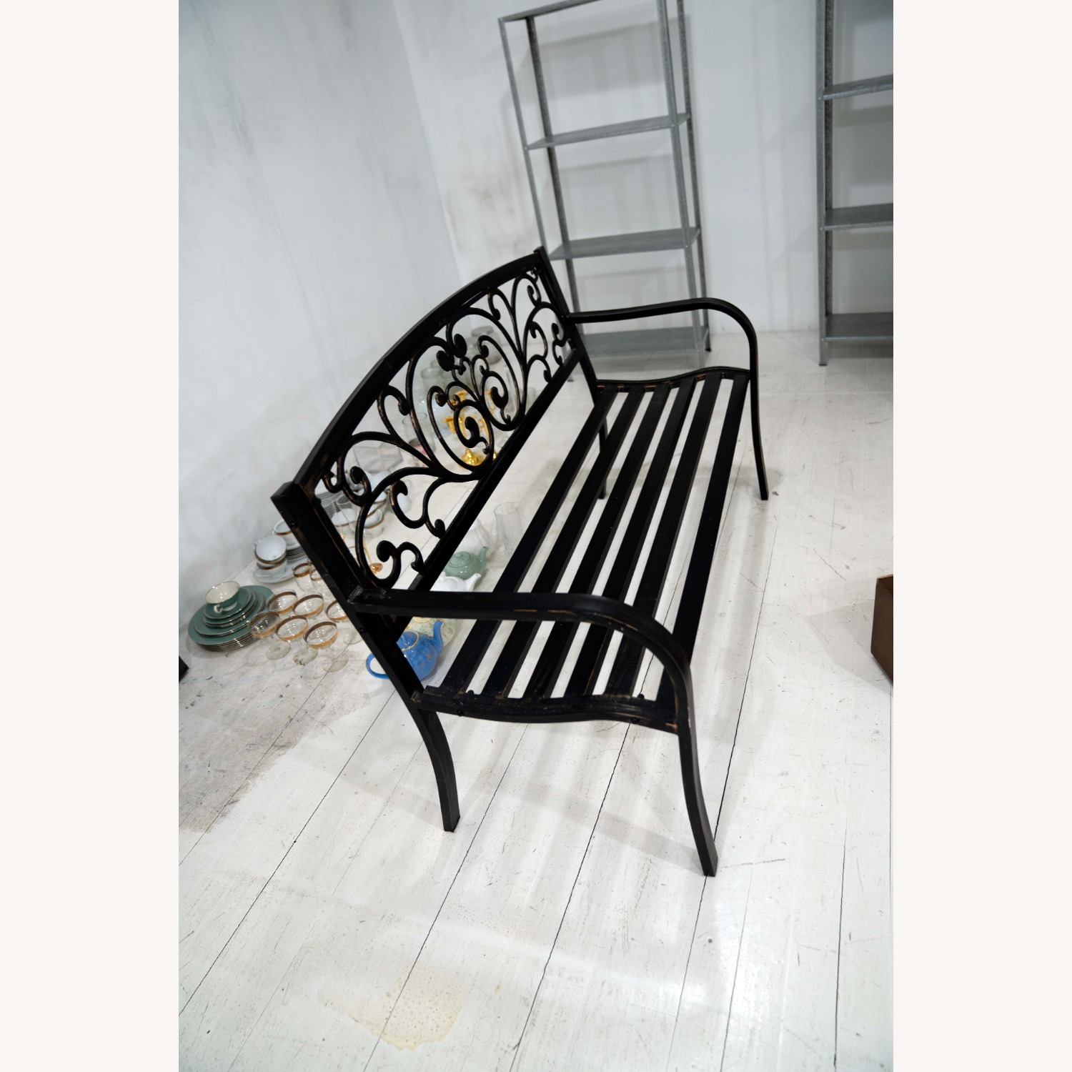Cast Iron Outdoor Bench - image-1