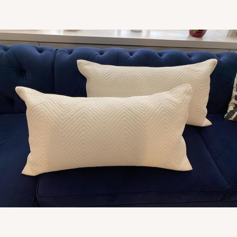 Restoration Hardware White Pillows - image-1
