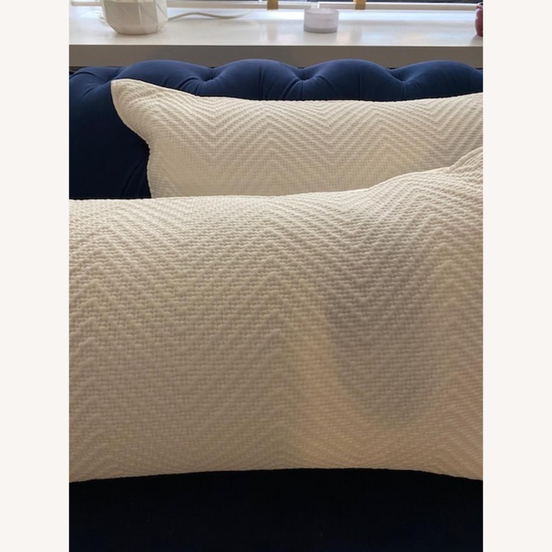 Restoration Hardware White Pillows - image-2