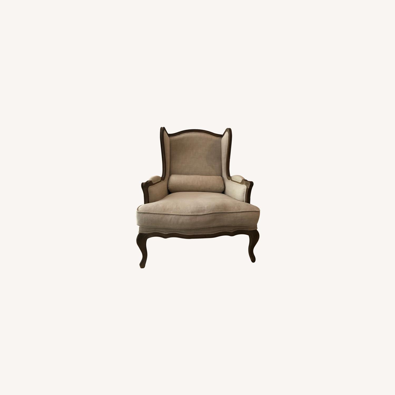 Restoration Hardware Loraine Wingback Chair - image-0