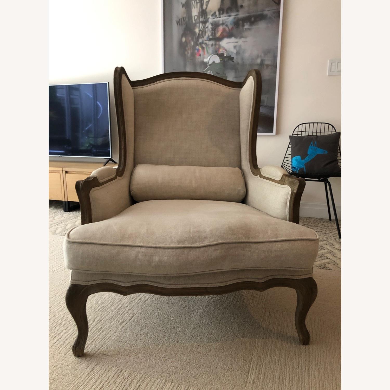Restoration Hardware Loraine Wingback Chair - image-2