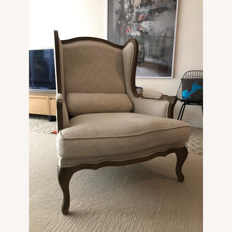 Restoration Hardware Loraine Wingback Chair - image-1