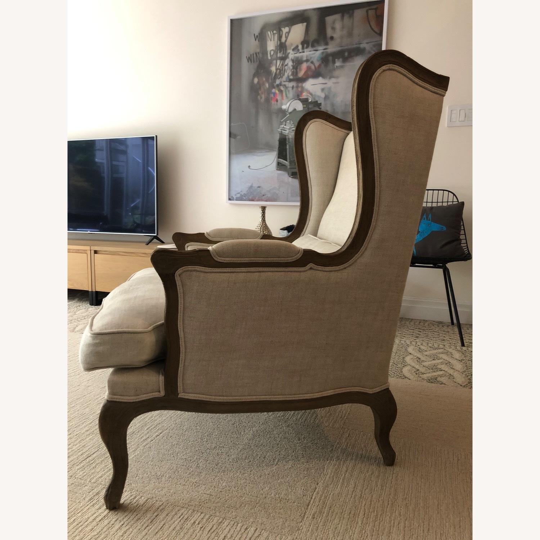 Restoration Hardware Loraine Wingback Chair - image-3