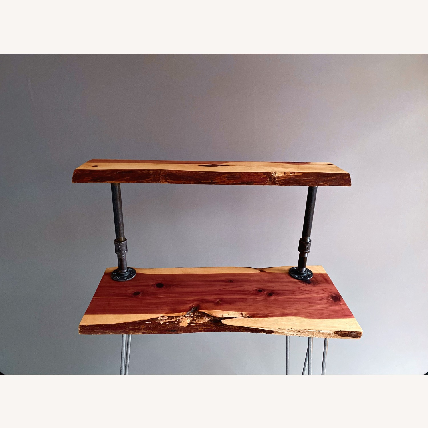 Rustic Handcrafted Live Edge Bar Cart - image-5