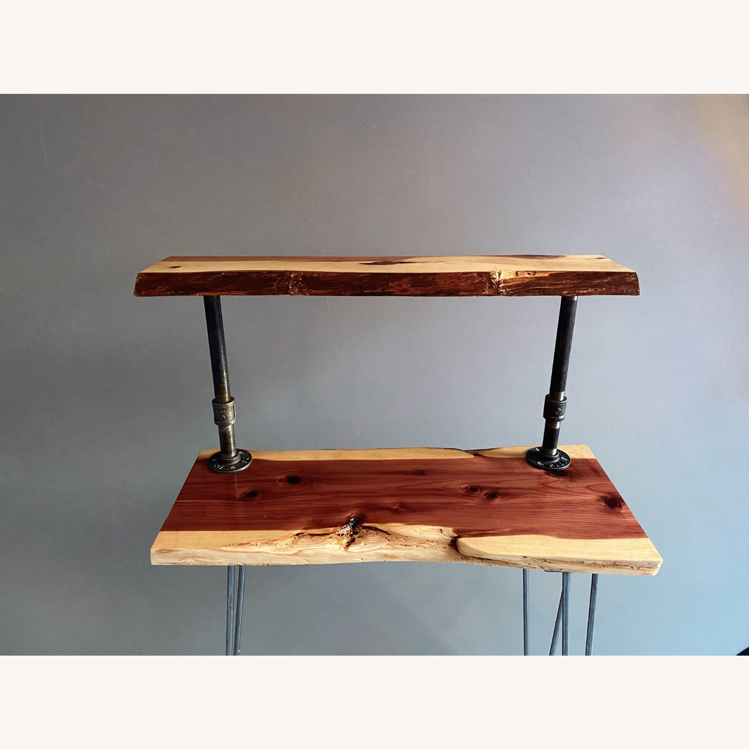 Rustic Handcrafted Live Edge Bar Cart - image-8