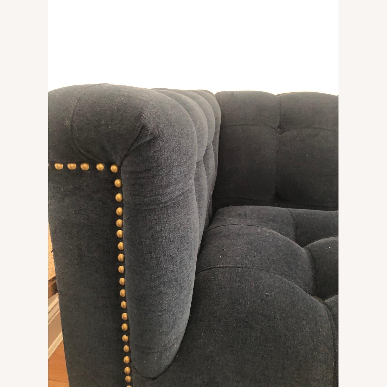 West Elm Navy Sofa - image-3