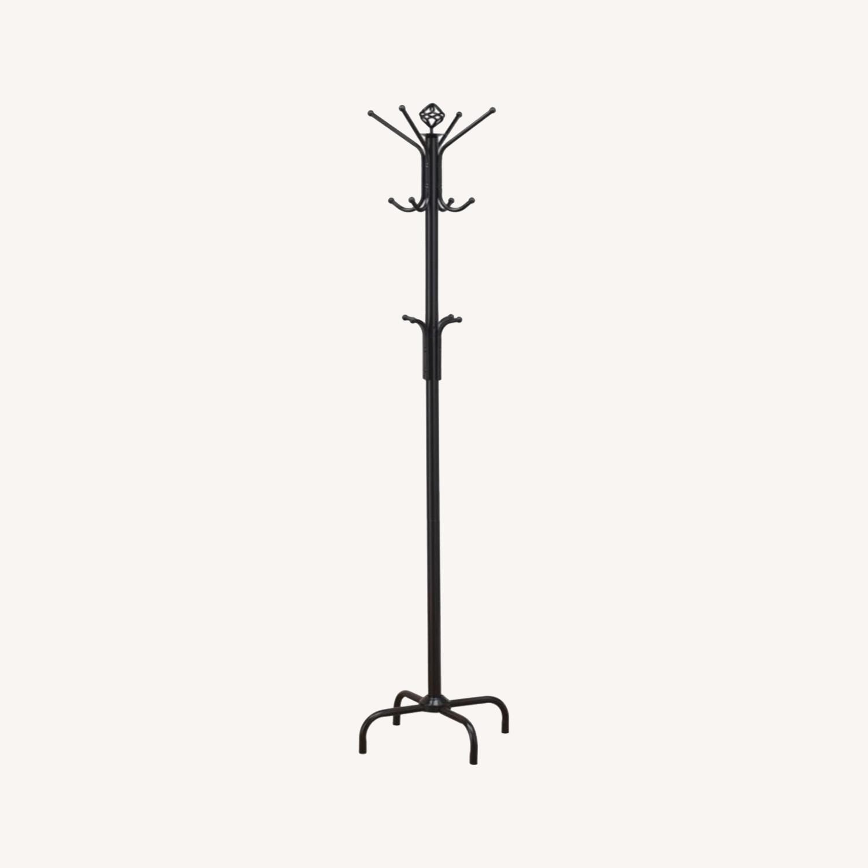 Coat Rack In Black W/ Decorative Finial Design - image-4