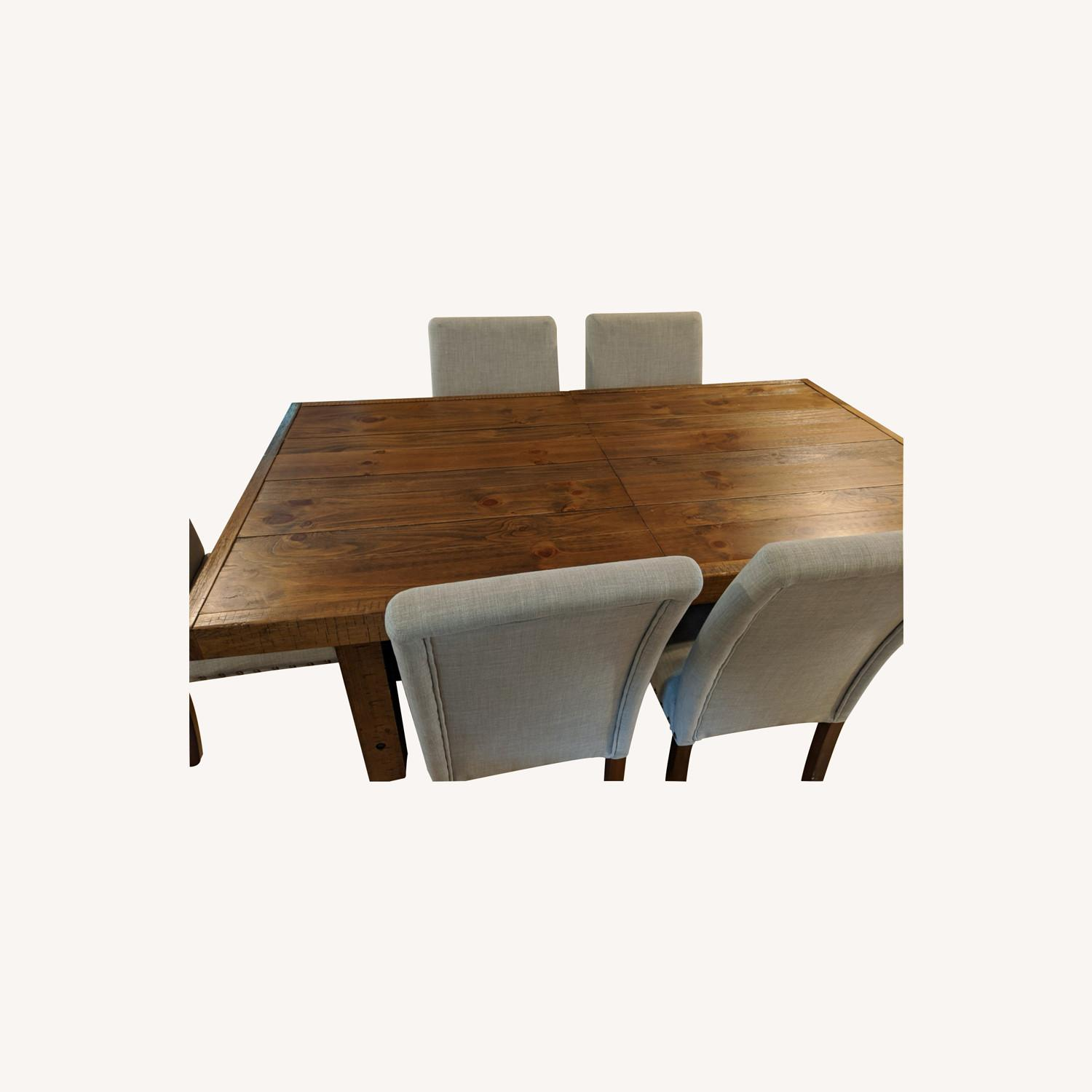 Dining Table and Parsons Chairs - image-0
