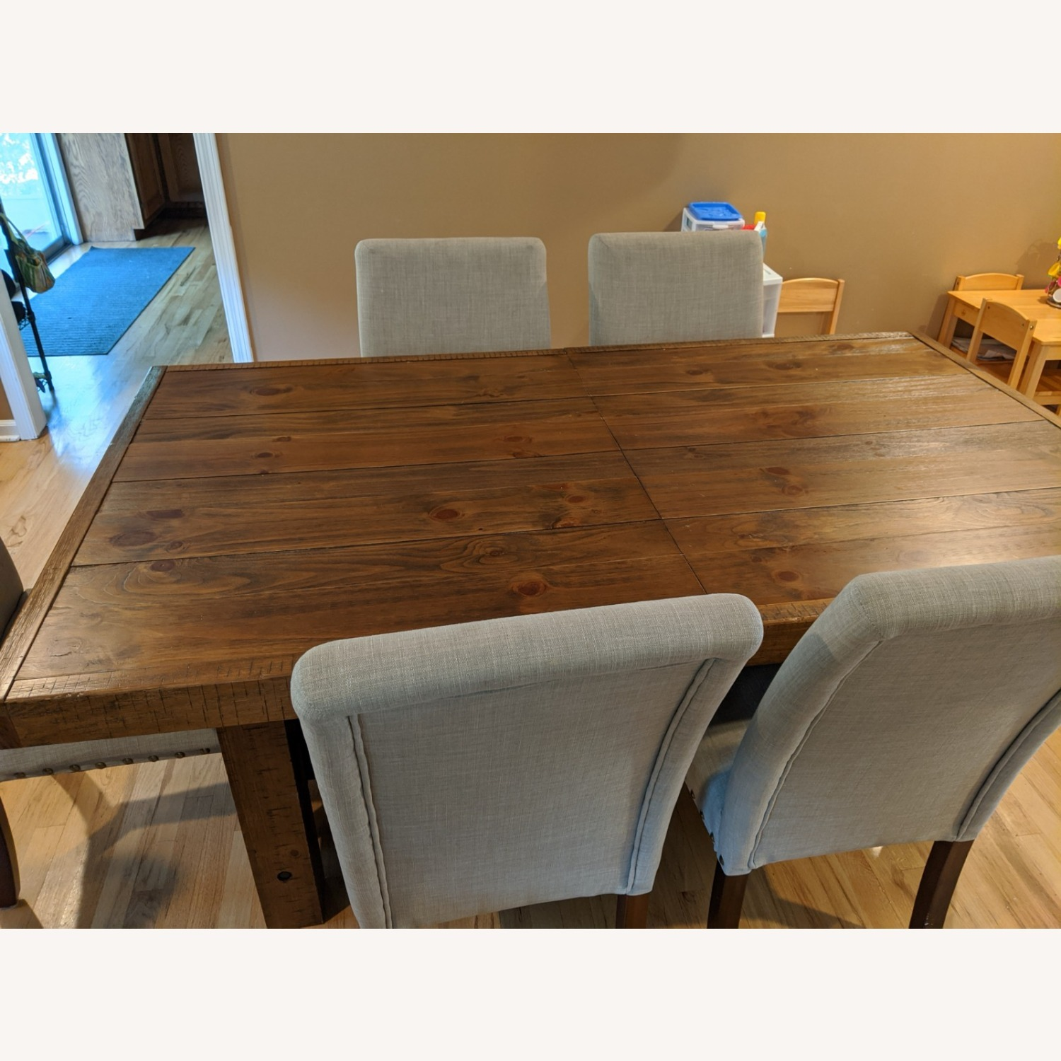 Dining Table and Parsons Chairs - image-1