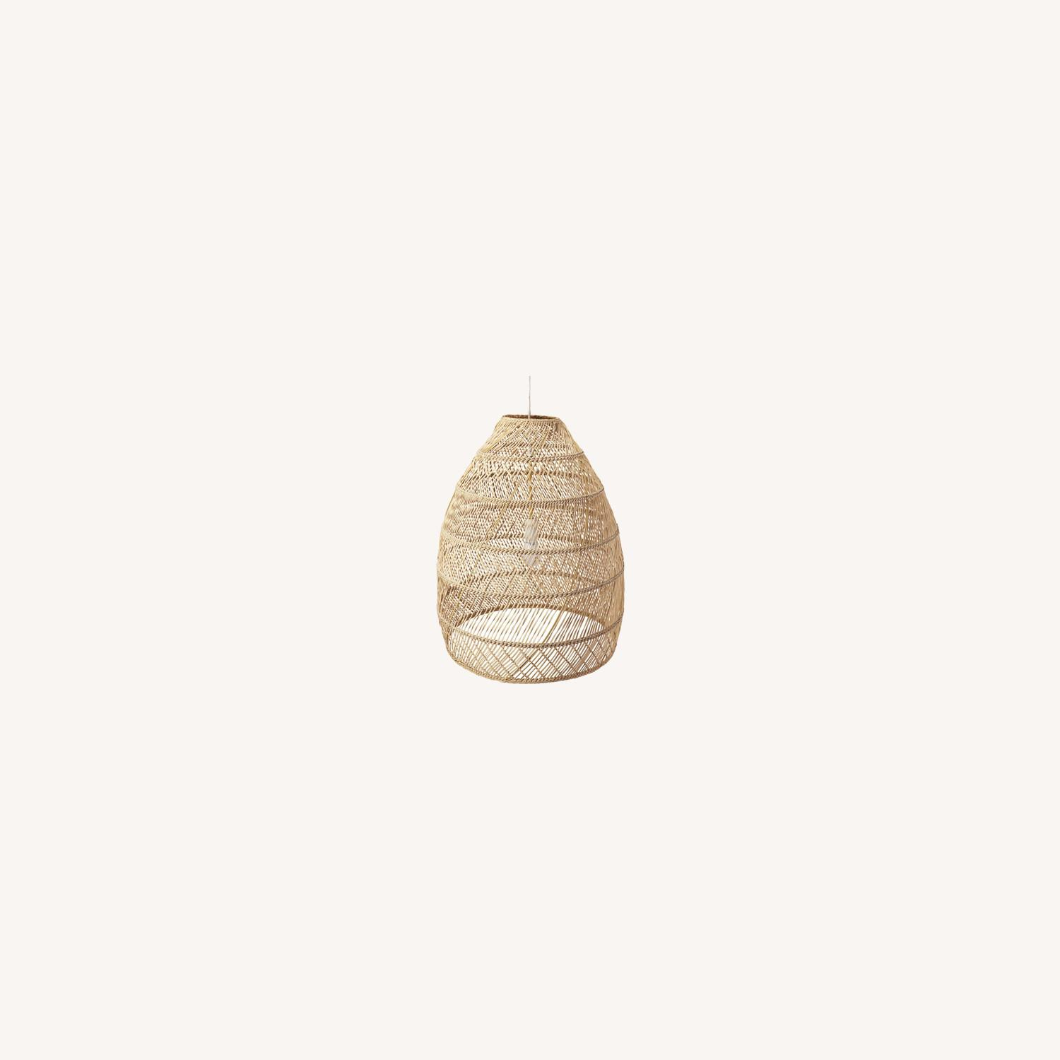 Serena and Lily Rattan Ceiling Light Pendants (2) - image-0