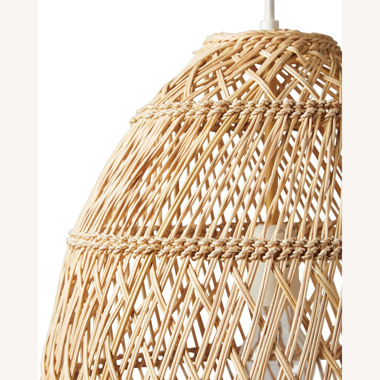 Serena and Lily Rattan Ceiling Light Pendants (2) - image-3