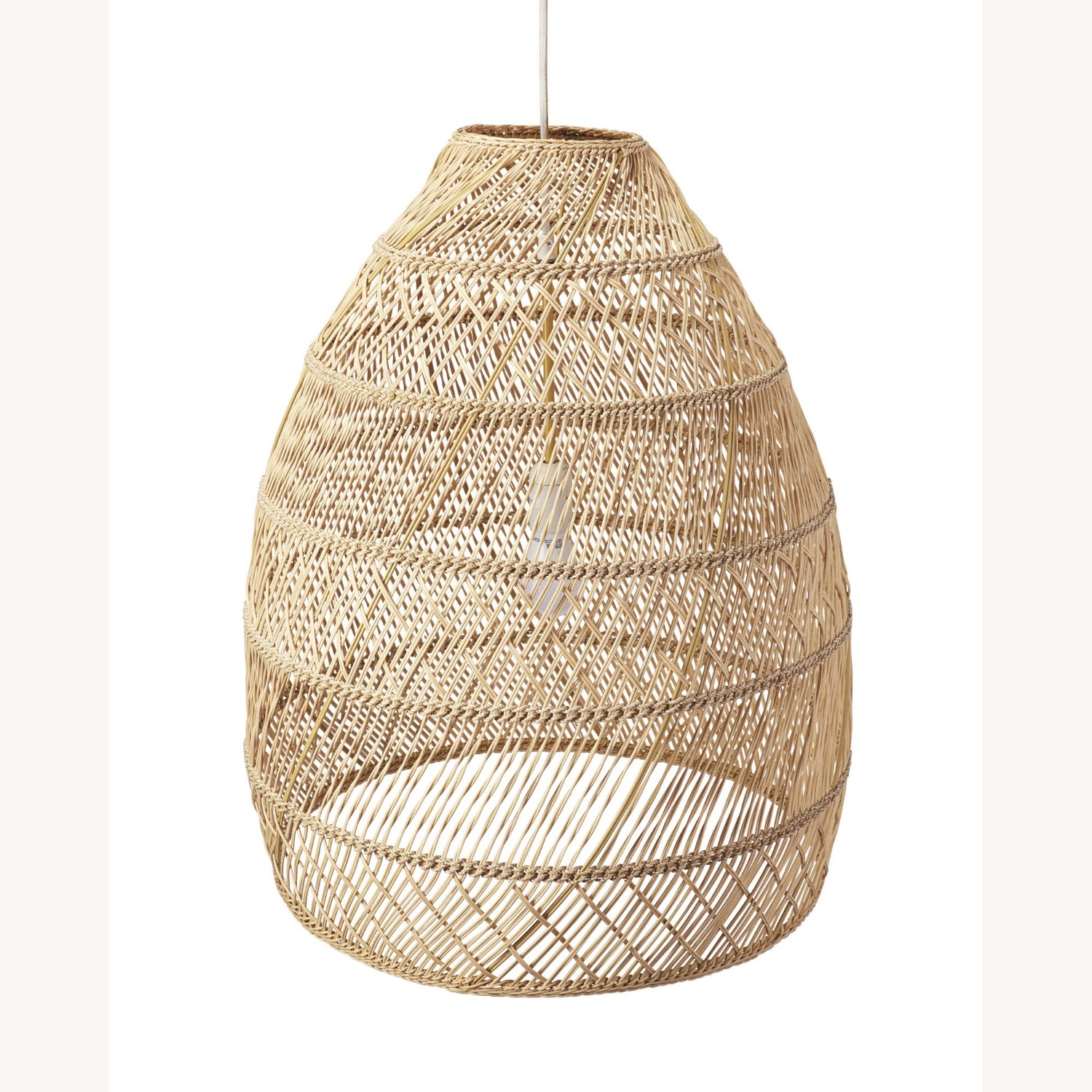 Serena and Lily Rattan Ceiling Light Pendants (2) - image-2