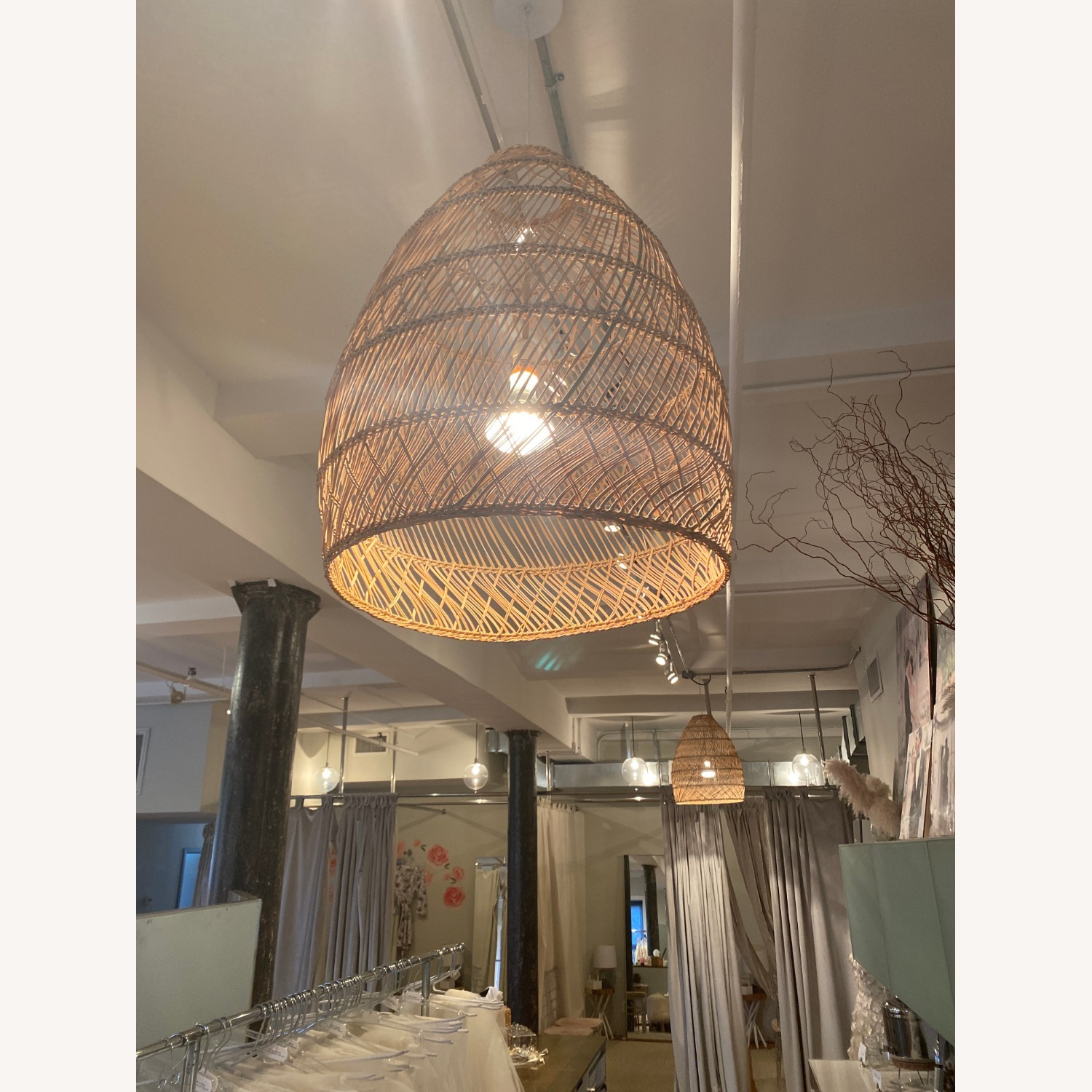 Serena and Lily Rattan Ceiling Light Pendants (2) - image-1