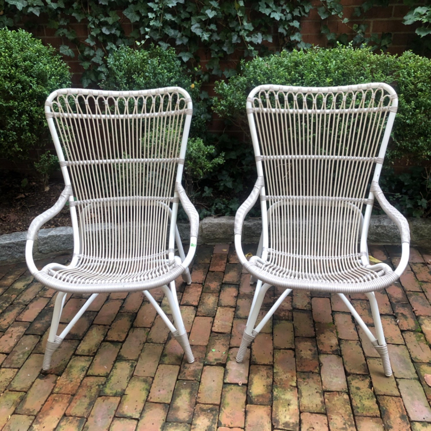 Pair Sika Design Rattan Outdoor Chairs - image-1
