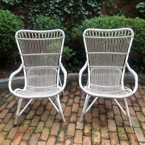 Used Pair Sika Design Rattan Outdoor Chairs for sale on AptDeco