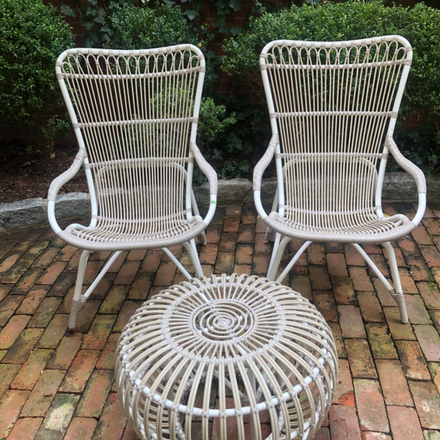 Pair Sika Design Rattan Outdoor Chairs - image-2