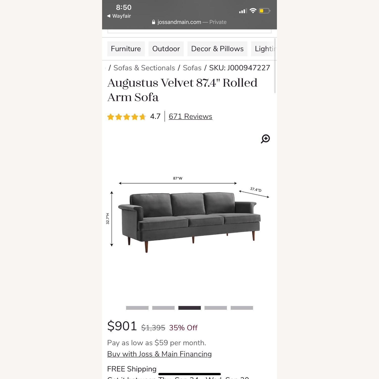Wayfair Velvet Sofa - image-5