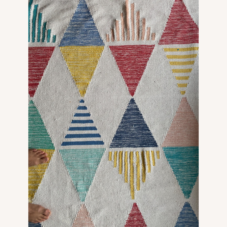 Crate & Barrel Color Triangle Rug - image-2