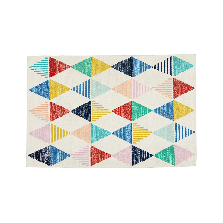 Crate & Barrel Color Triangle Rug - image-1