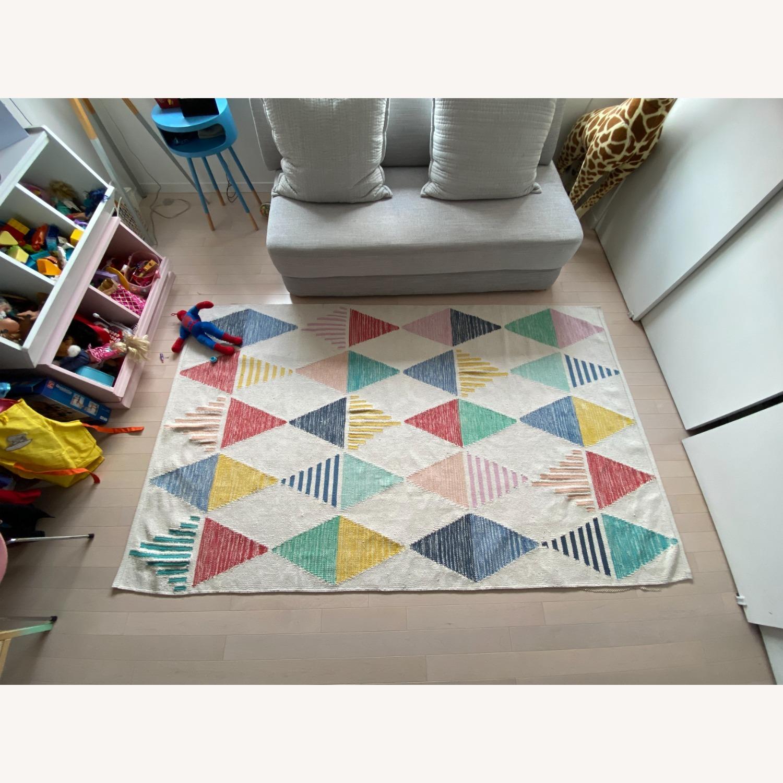 Crate & Barrel Color Triangle Rug - image-4