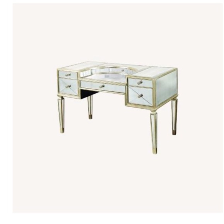 Houzz Mirrored vanity/Desk - image-1