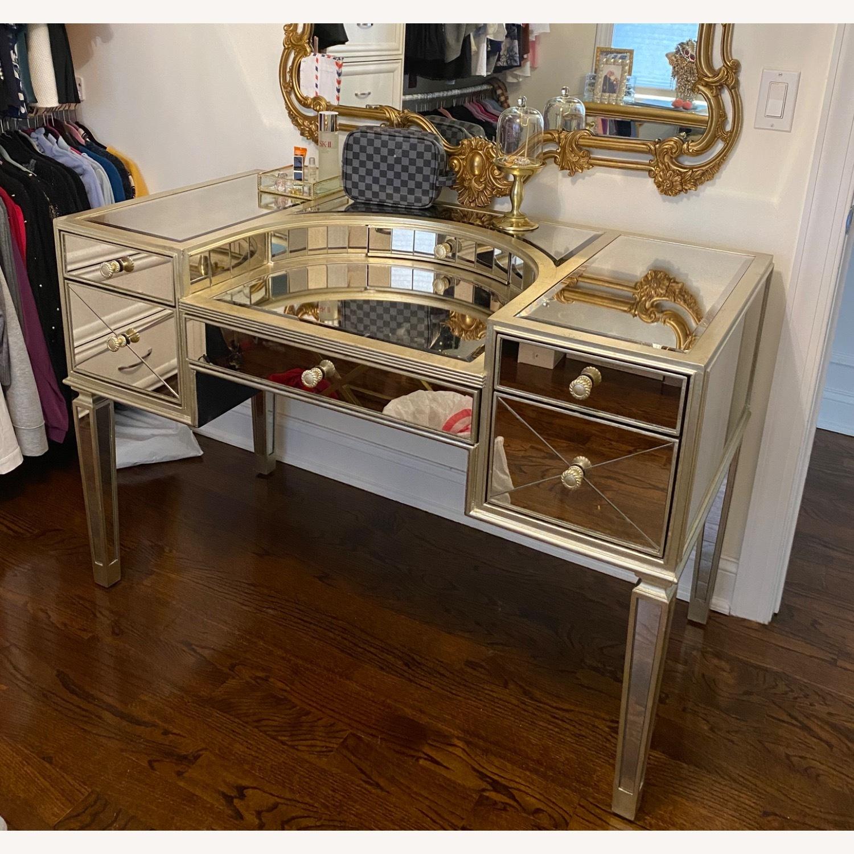 Houzz Mirrored vanity/Desk - image-8