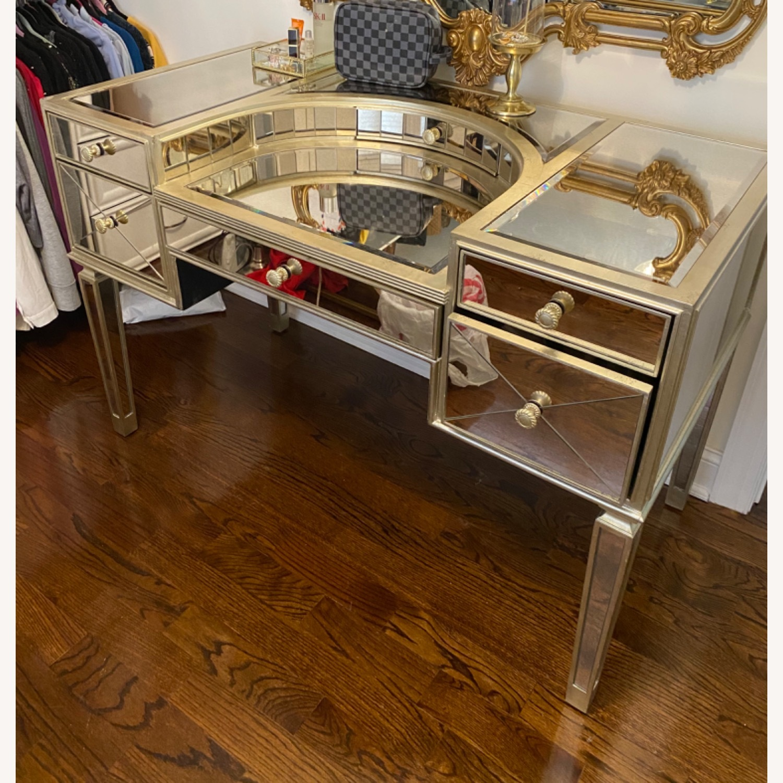 Houzz Mirrored vanity/Desk - image-5