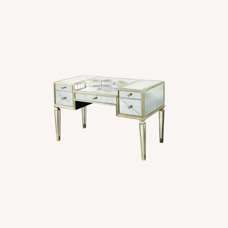 Houzz Mirrored vanity/Desk - image-0