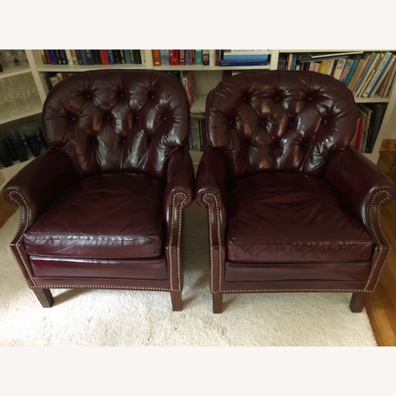 Hancock and Moore Club Leather Chairs - image-0