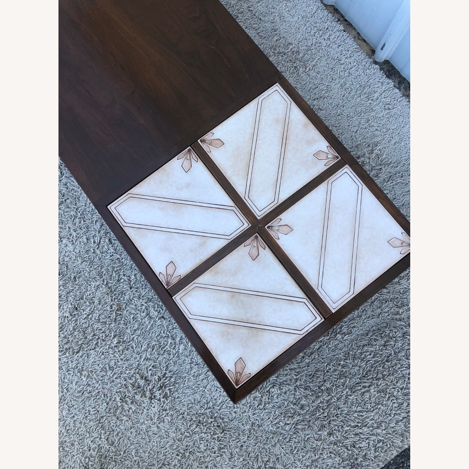 Mid Century Coffee Table w/ Planter Pearsall - image-7