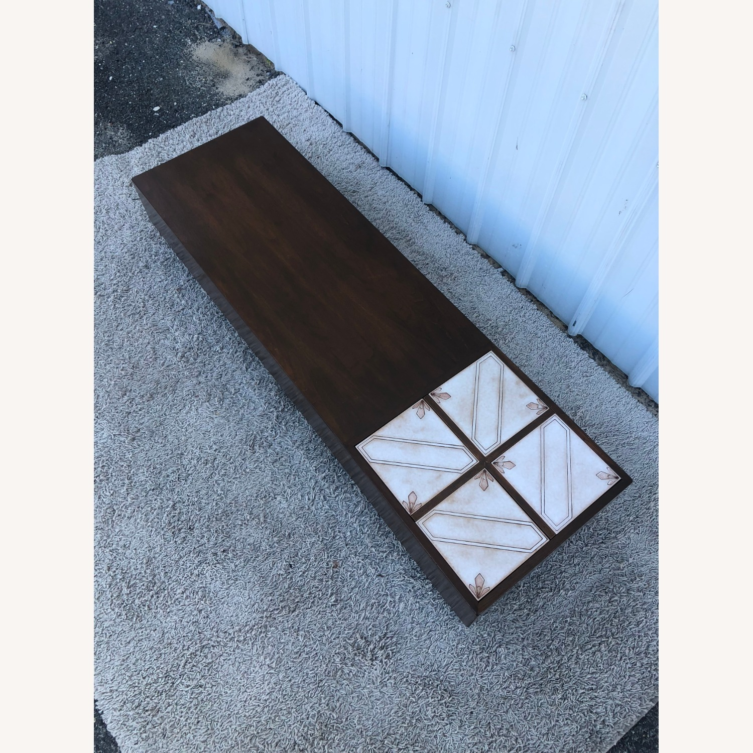 Mid Century Coffee Table w/ Planter Pearsall - image-4