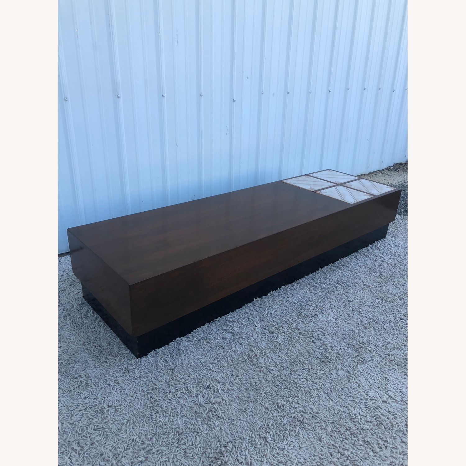 Mid Century Coffee Table w/ Planter Pearsall - image-5
