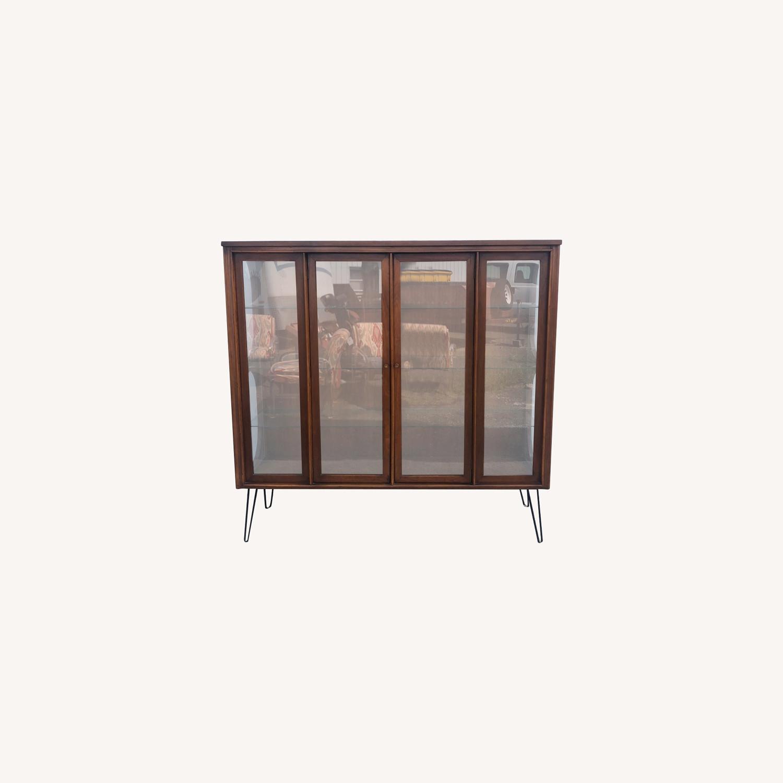 Mid Century Display Cabinet on Hairpin Legs - image-0