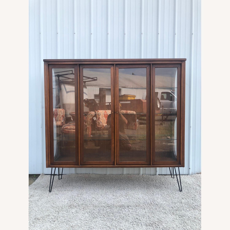 Mid Century Display Cabinet on Hairpin Legs - image-1