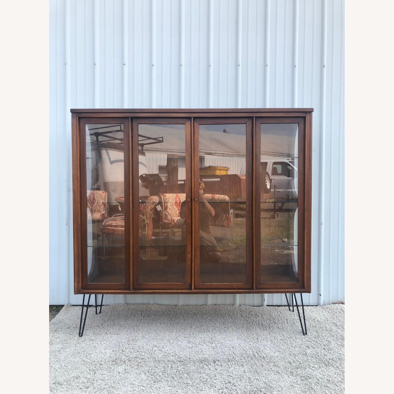 Mid Century Display Cabinet on Hairpin Legs - image-2