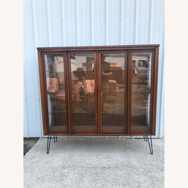 Mid Century Display Cabinet on Hairpin Legs - image-25