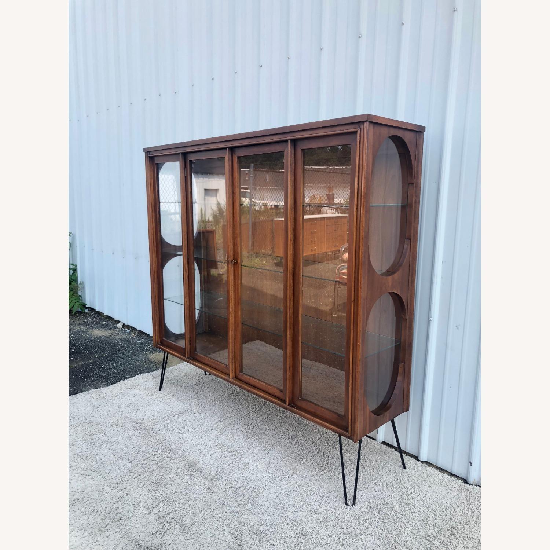 Mid Century Display Cabinet on Hairpin Legs - image-3