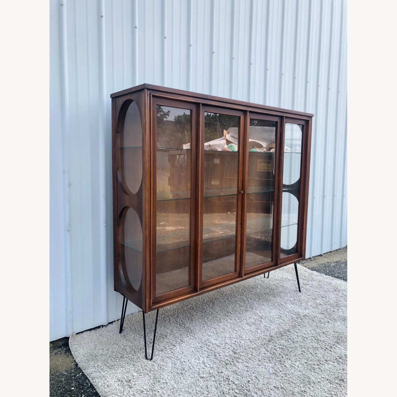 Mid Century Display Cabinet on Hairpin Legs - image-7