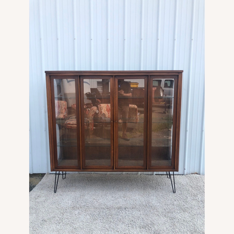 Mid Century Display Cabinet on Hairpin Legs - image-6