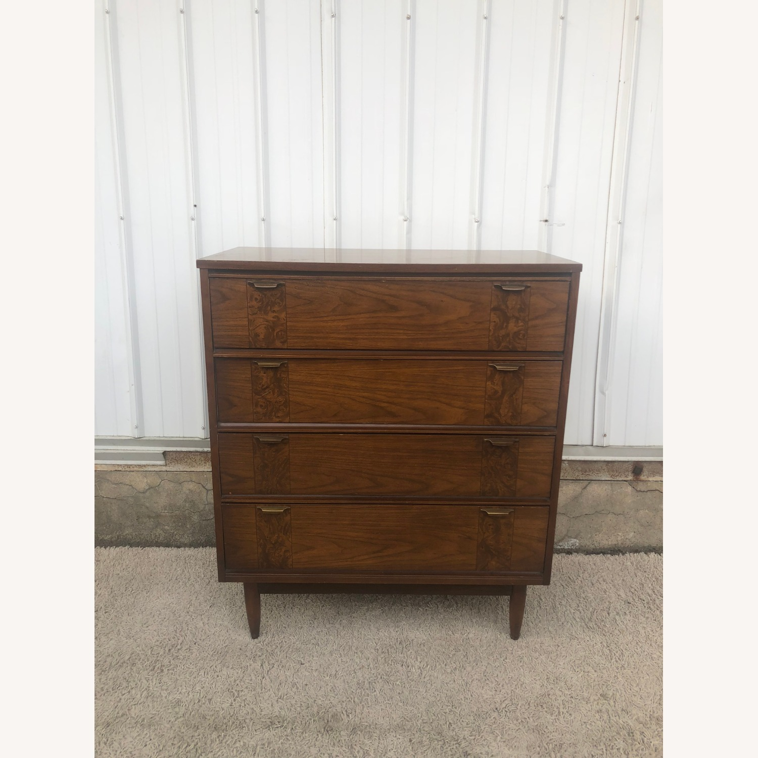 Mid Century Four Drawer Dresser with Burlwood - image-16