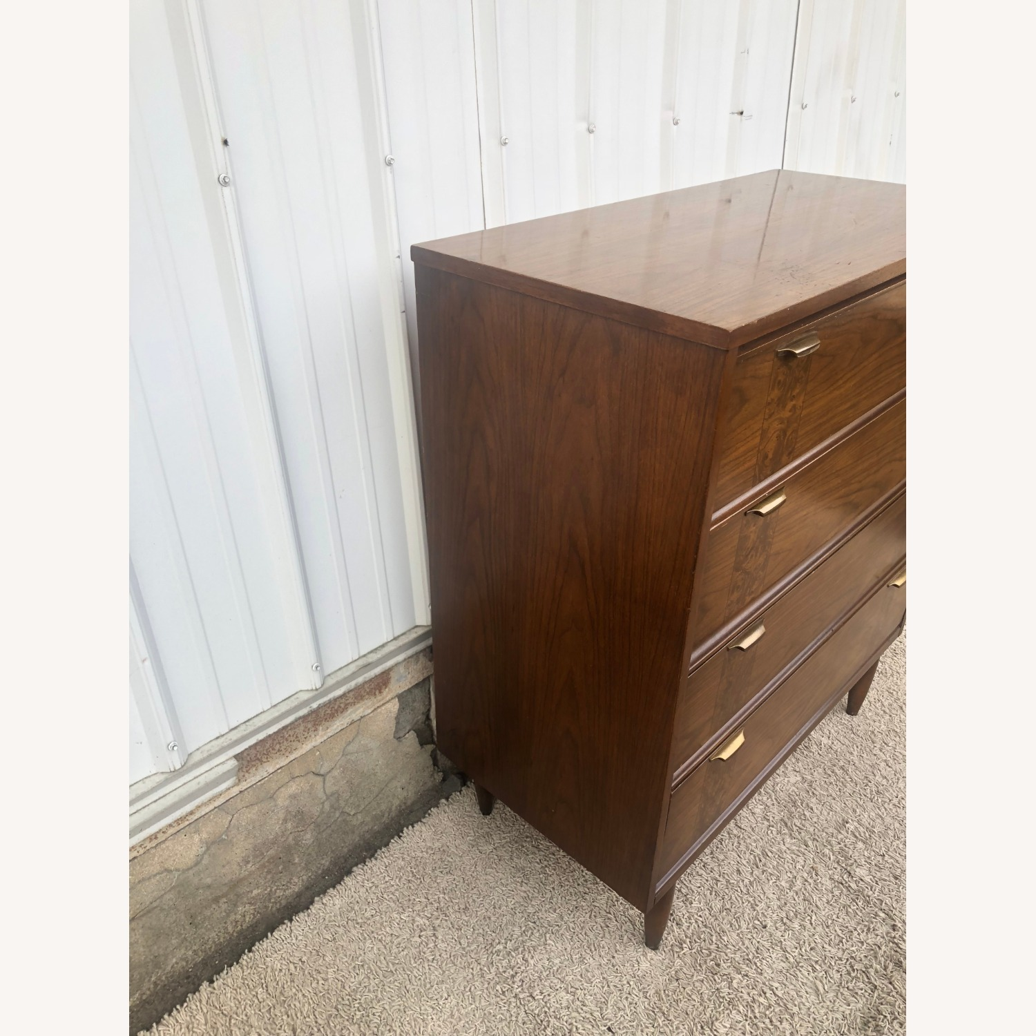 Mid Century Four Drawer Dresser with Burlwood - image-8