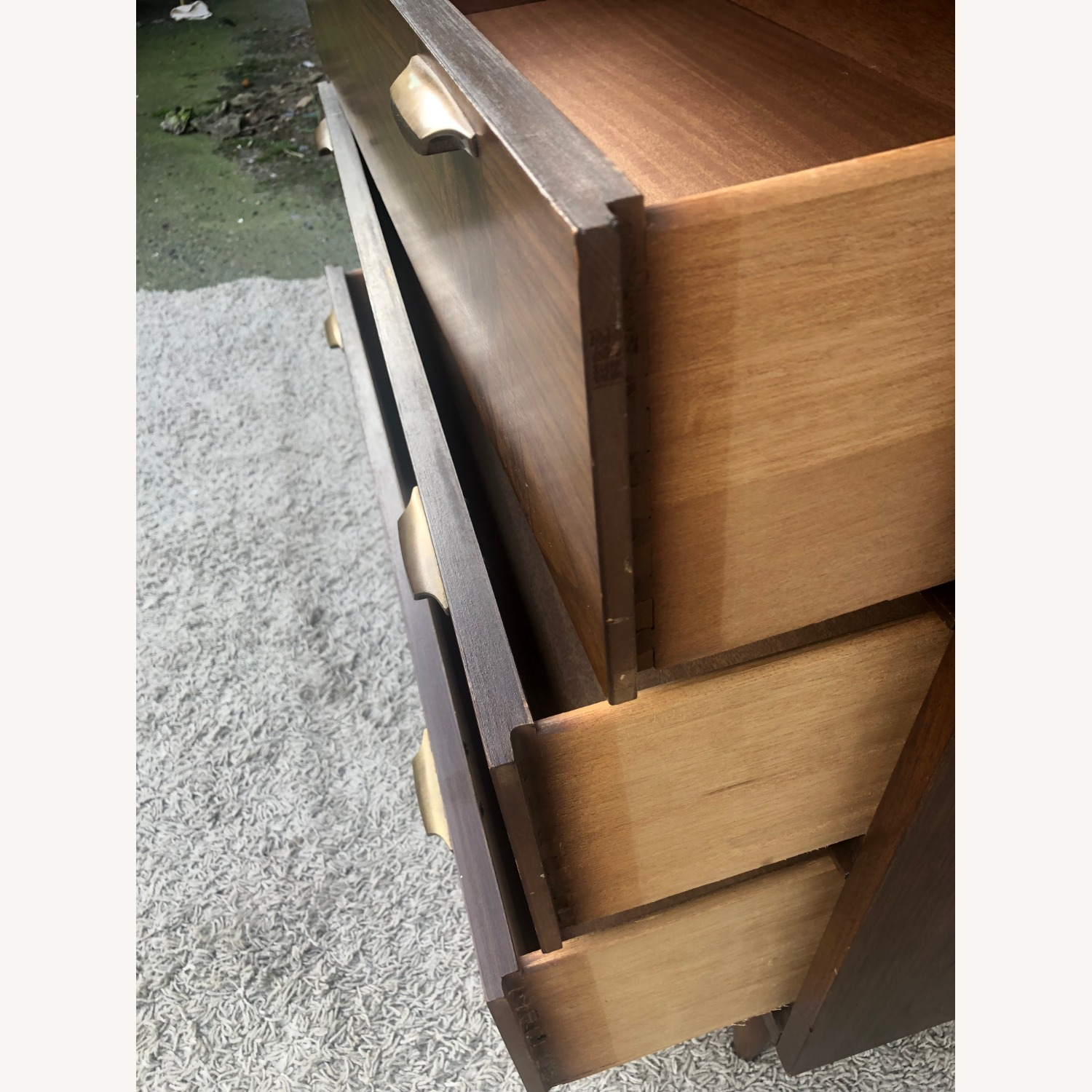 Mid Century Four Drawer Dresser with Burlwood - image-11