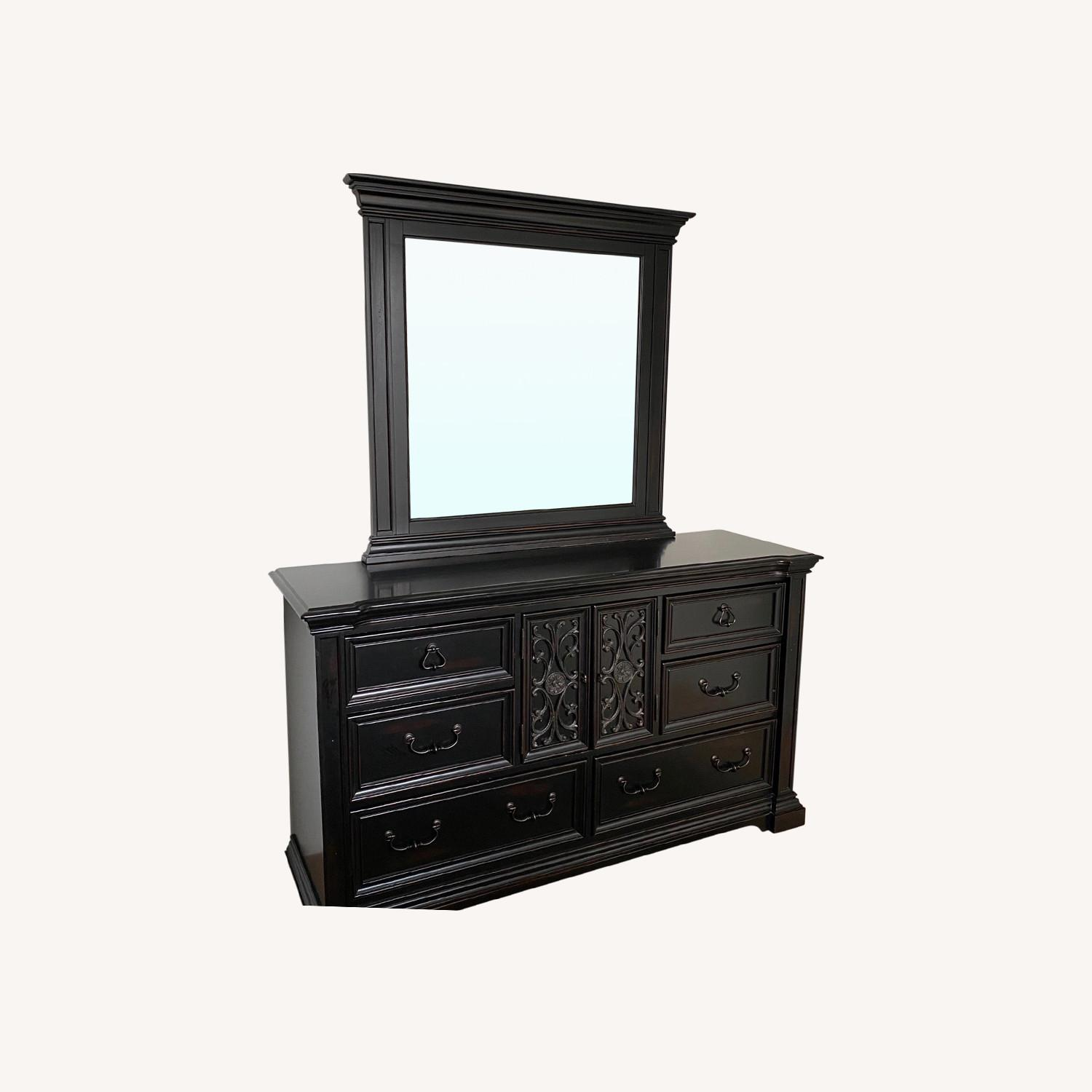 Macy's Solid Wood Dresser with Mirror - image-0