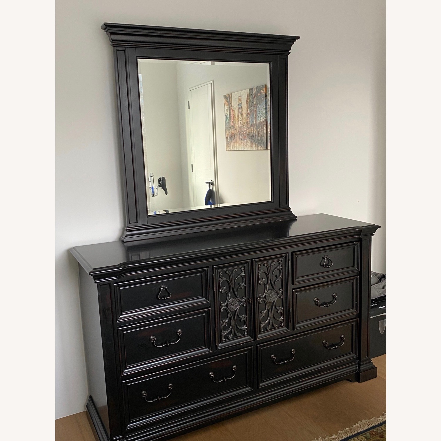 Macy's Solid Wood Dresser with Mirror - image-1