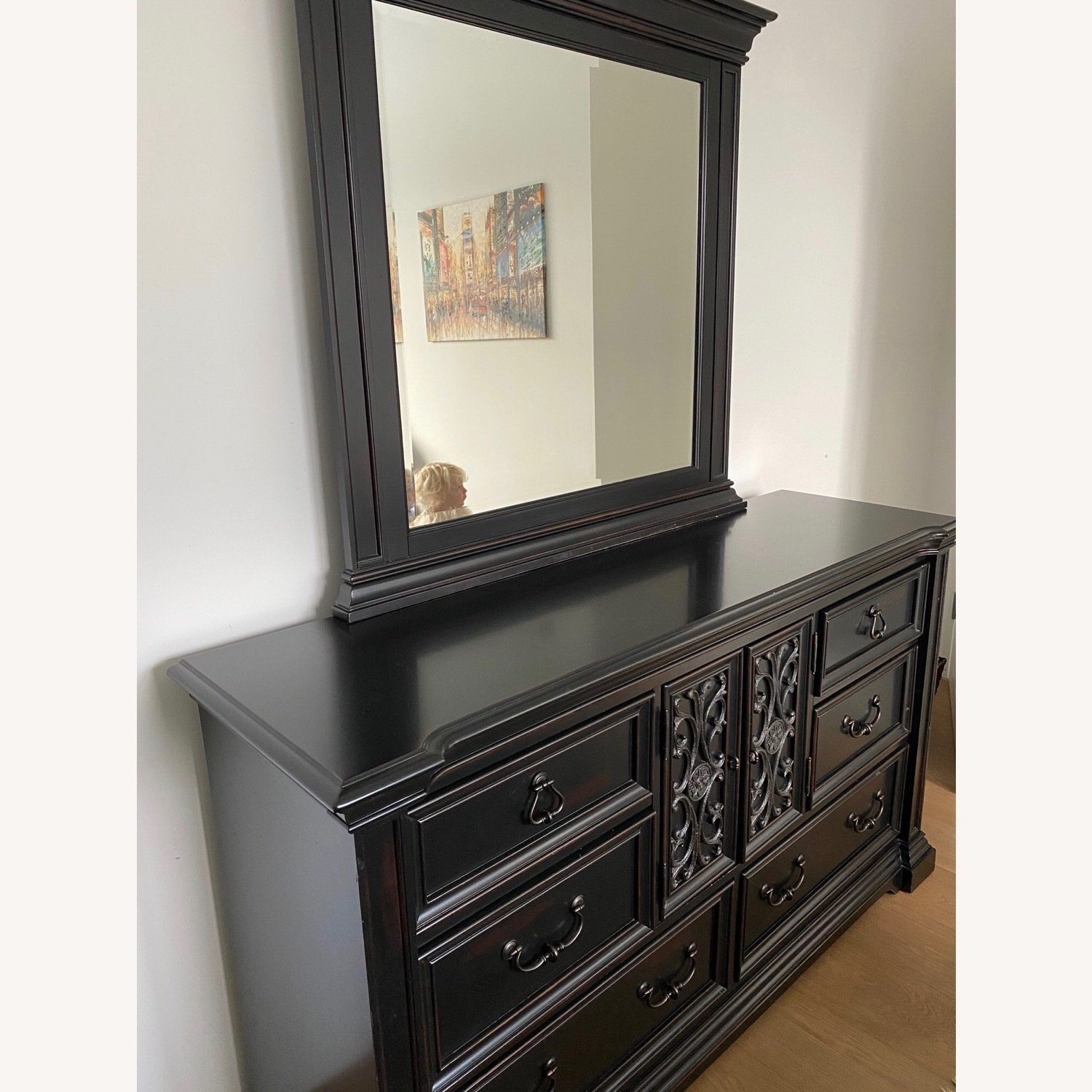 Macy's Solid Wood Dresser with Mirror - image-2