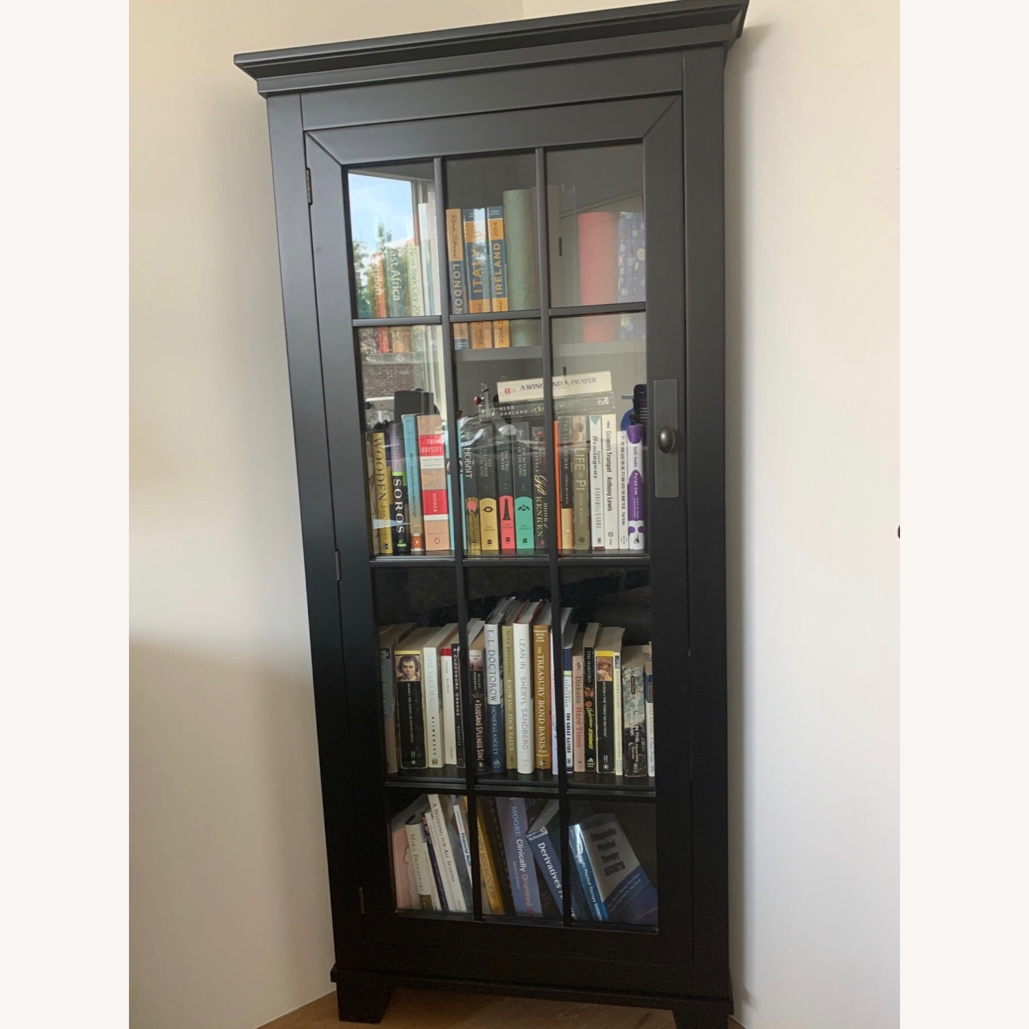 Macy's Solid Wood Corner Bookcase - image-2