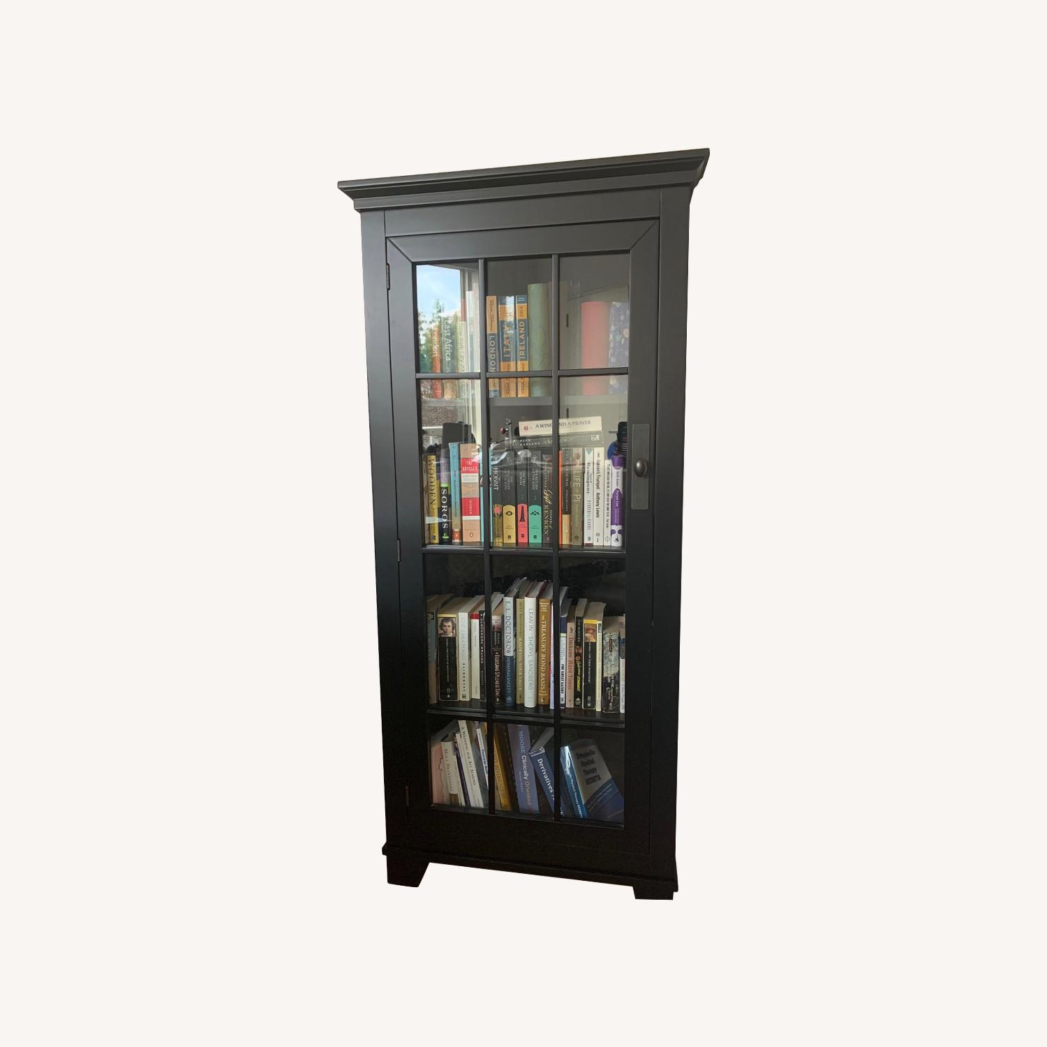 Macy's Solid Wood Corner Bookcase - image-0