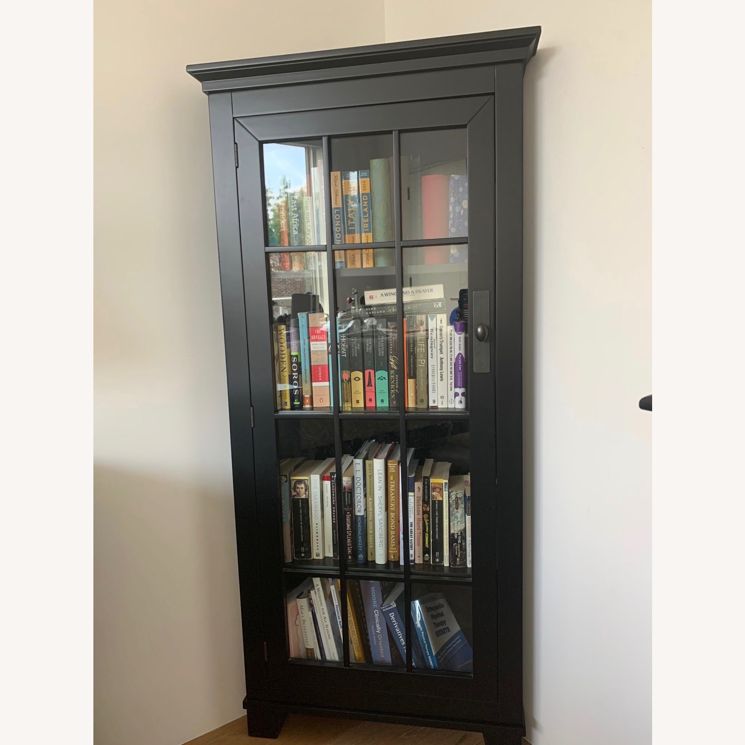 Macy's Solid Wood Corner Bookcase - image-1