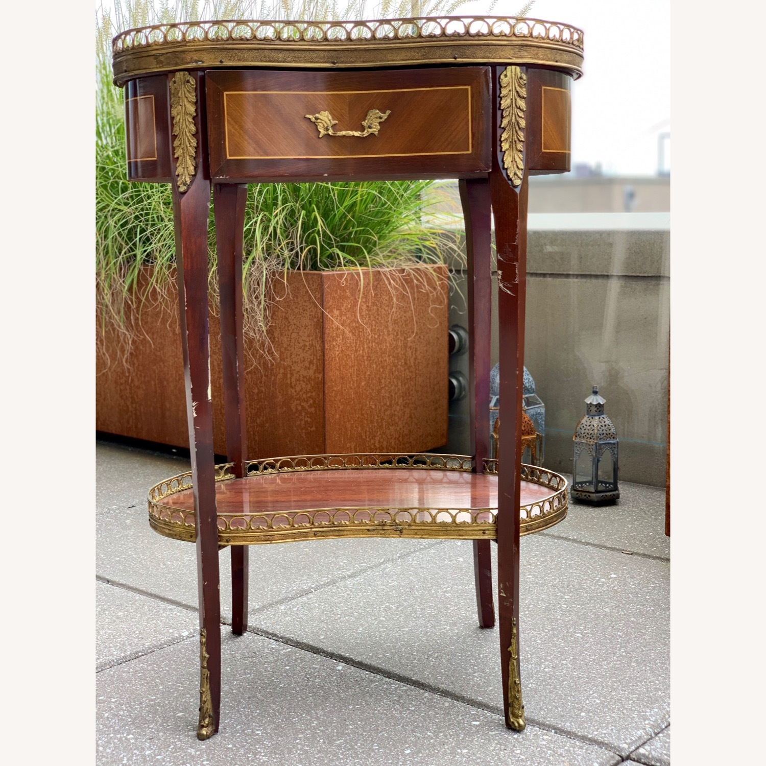 Pair of Kidney Accent Tables 50's Repro - image-2